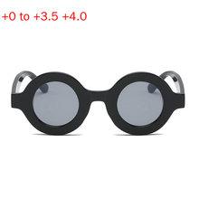 Okrągłe okulary przeciwsłoneczne okulary do czytania mężczyźni kobiety okulary powiększające okulary Prebyopia okulary okulary dioptrii + 1 0 do + 4 0 NX tanie tanio Mincl Unisex Szary Gradient Cr-39 Stop