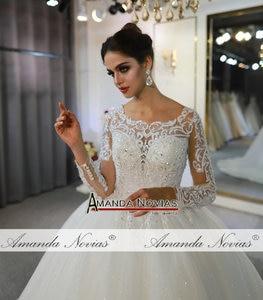 Image 3 - Vestidos de novias spitze kleid elegante neue hochzeit kleid schöne echt arbeit gleiche wie auf foto