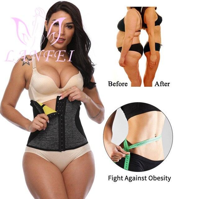 LANFEI Waist Tainer Tummy Shaper Belt Women Hot Neoprene Sweat Body Shaper Strap Girdle Slimming Waist Trimmer Corset Shapewear 1
