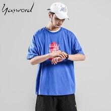 Yasword Summer Causal Short Sleeve T-shirt Men Printed Fashion Cotton Tshirt Brand Clothing