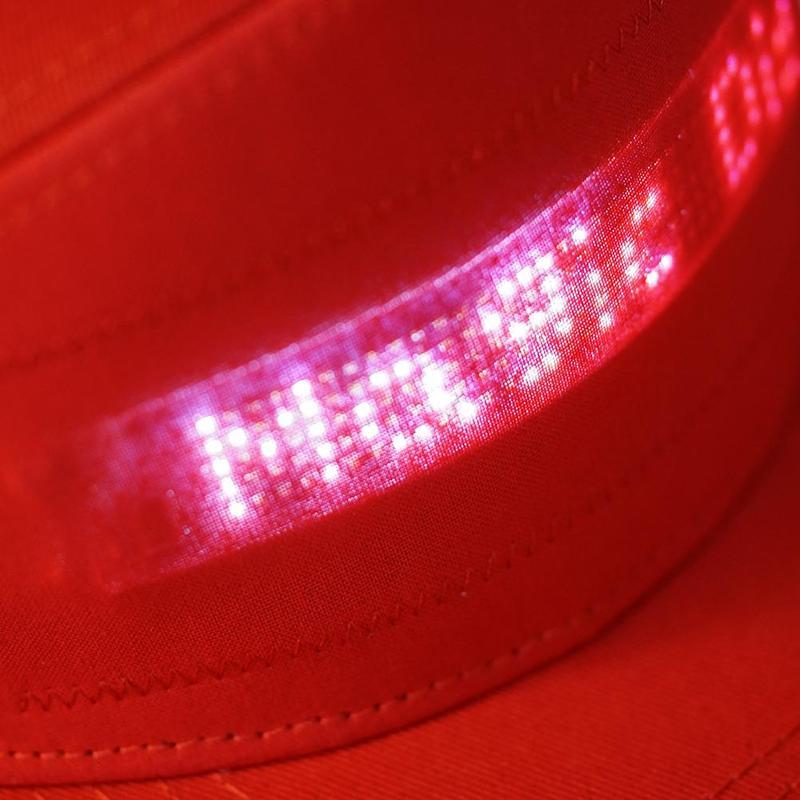 Hb7c79f797fab4a65b52f81b31c71cb81D - Casquette avec Message à LED