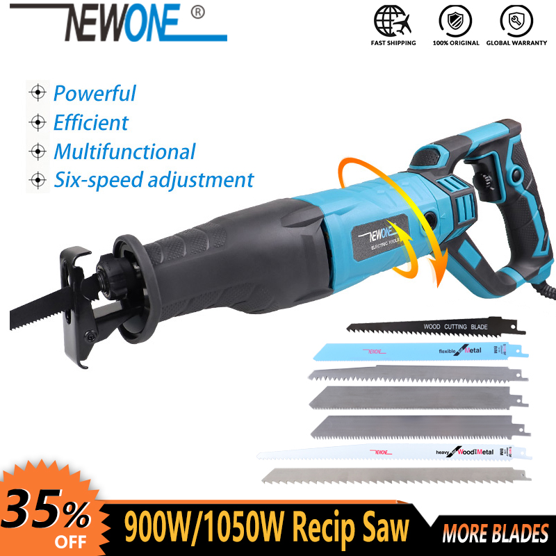 NEWONE Reciprocating Saw Handsaw Saber Saw Multifunction Saw 900W/1050W For Metal Wood Meat Bone Pipe Cutting Saw With Blade Kit