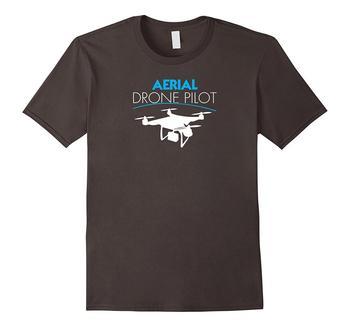 2019 Summer Fashion Aerial Drone Pilot Shirt Cool Tech Geek T Shirt Tee T Shirt