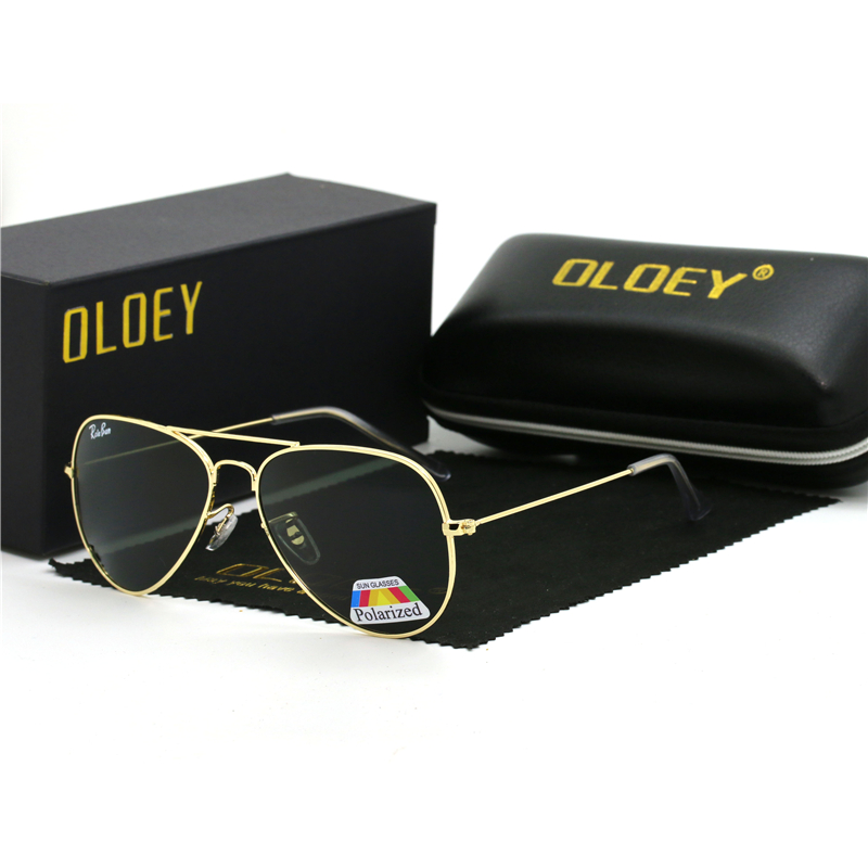 OLOEY Brand Polarized Sunglasses Men New Fashion Eyes Protect Sun Glasses With Accessories Unisex driving goggles oculos de sol