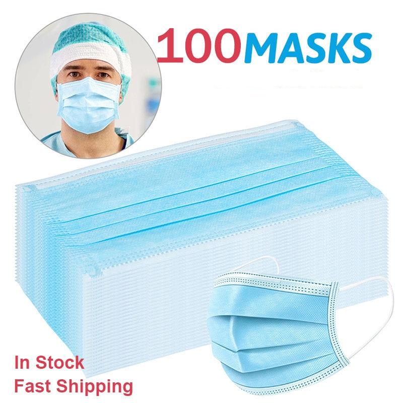 100/50Pcs Disposable Dustproof Mask Filter Mouth Mask Filter Family Mouth Mask Face Masks マスク