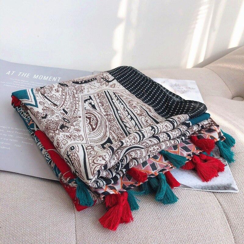 2019 mode Spanien Luxus Marke Cashew Floral Viskose Schal Schal Druck Schalldämpfer Weiche Hijab Sjaal Foulards Muslimischen Snood 180*100Cm