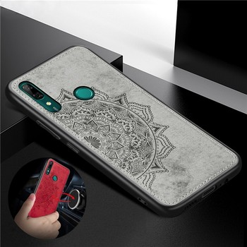 Leather Case For Huawei P Smart Z Y9 Prime 2019 P30 P40 Pro Mate 30 Honor 10 Lite 20 9A 9X Nova 5T 6SE Magnetic Car Holder Cover image
