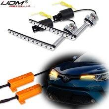 IJDM – ampoule LED BAU15S PY21W, blanc/ambre, clignotant séquentiel, pour Toyota 2017, C-HR
