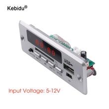Kebidu Bluetooth5.0 MP3ถอดรหัสคณะกรรมการโมดูลไร้สายUSB MP3 Playerช่องเสียบการ์ดTF/USB/FM/รีโมทโมดูลบอร์ดถอดรหัส