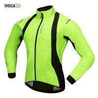Wosawe inverno ciclismo jaqueta vento verde casaco velo térmica aquecer bicicleta equitação jérsei jaqueta à prova de vento|Jaquetas de ciclismo| |  -
