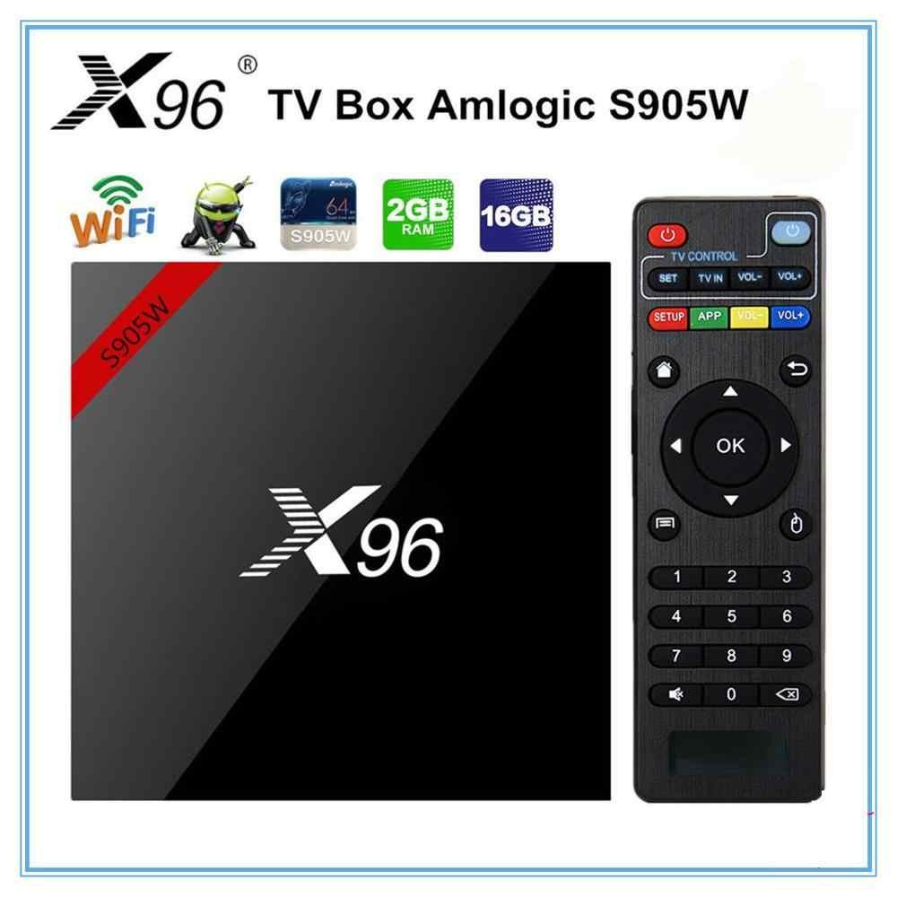 X96 W Mini Android 7.1 สมาร์ททีวีกล่อง 2GB/16GB TVBOX X 96 MINI Amlogic S905W H.265 4K 2.4GHz WIFI Media Player ตั้งกล่องด้านบน X96mini