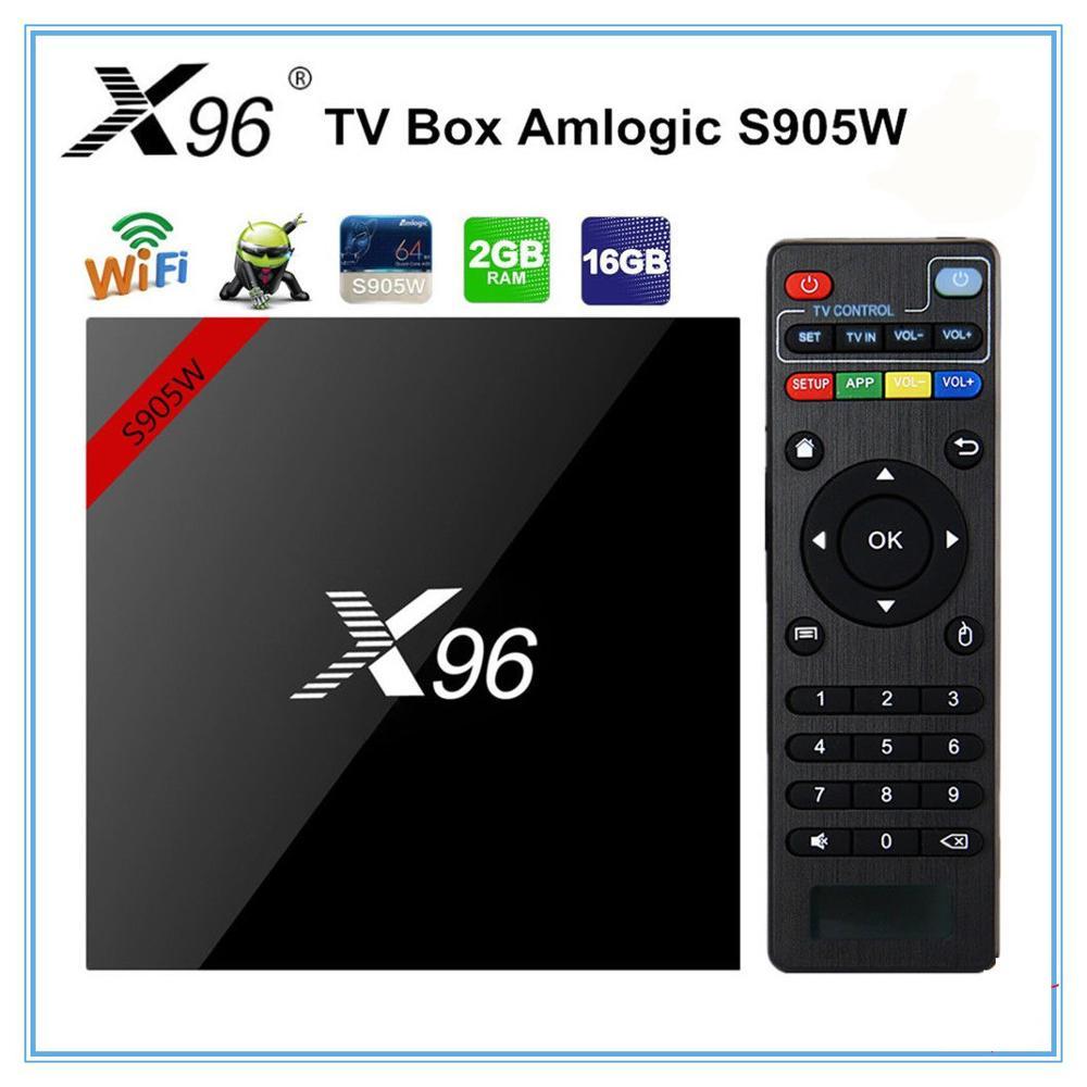 X96 W mini Android 7.1 BOX TV Inteligente 2 GB/16 GB TVBOX X 96 mini Amlogic S905W H.265 4K 2.4GHz WiFi Media Player Set Top Box X96mini