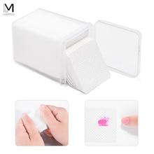 200 шт безворсовые хлопковые салфетки для удаления ногтей, абсорбирующие УФ-средство для снятия гель-лака, очиститель, нетоксичные бумажные салфетки для лака