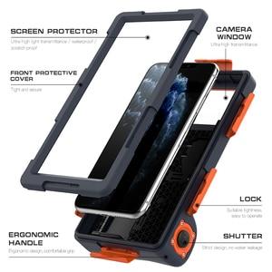 Image 4 - Caso de mergulho à prova dwaterproof água para iphone se 2020 12 11 pro max x 10 xs xr 7 8 6s underwater proteger caso do telefone para samsung nota 10 +