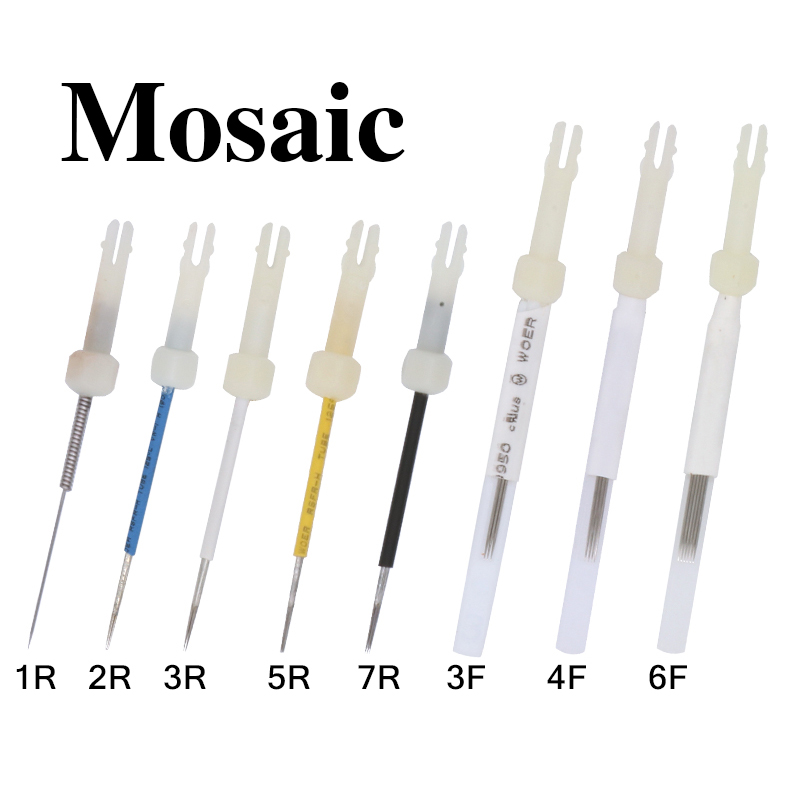 100pcs 5R Permanent Sterilized Makeup Assorted Tattoo Needles Needle Cap For USA Mosaic Tattoo Machine