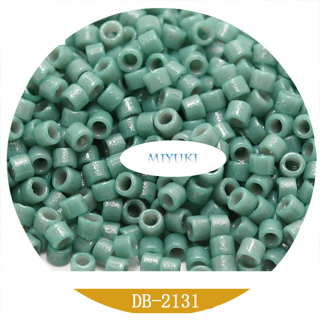 Opaque Grey AB Miyuki Delica 110  DB0168 Miyuki Delica Beads,5 Gr Pack
