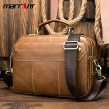 209Summer genuine leather mens briefcase, cross section, retro handbag, multi-function business casual handbag