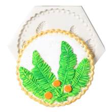 Leaf Feather Silicone Cake Molds Cake Lace Mat Chocolate Mold Cake Decorating Tools Fondant Decoration Baking Mould(China)