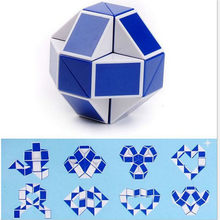 1pcs Blue Magic Ruler Puzzle Cube Maze Toy Hand Game Case Box Fun Brain Game Challenge Toys Balance Educational Toys Children(China)
