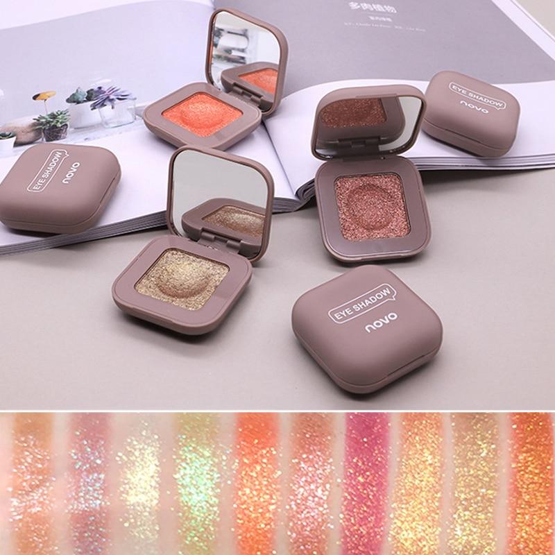 Novo Glitter Eyeshadow Makeup Palette Eye Shadow Palette Shine Polarize Eyeshadow Sparkling Duochrome Pigment Cosmetics 2019