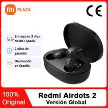 Xiaomi-auriculares Redmi Airdots 2 TWS, auriculares inalámbricos por Bluetooth 5,0, auriculares estéreo de graves con micrófono, auriculares manos libres con Control IA