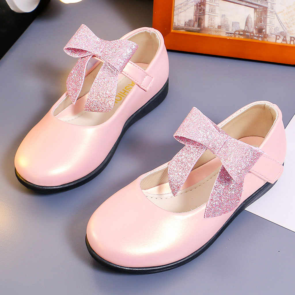 2019 Autumn New Girls Shoes Flowers Ballet Flats White Wedding Shoes For Big Girl Princess Shoes Sandals Baby Kids Single Shoes