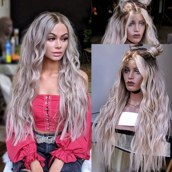 COLODO Hair Ombre Lace Front Human Hair Wigs Pre Plucked With Baby Hair 150% Density Wig 13x4 Brazilian Remy Wave Wigs For Women