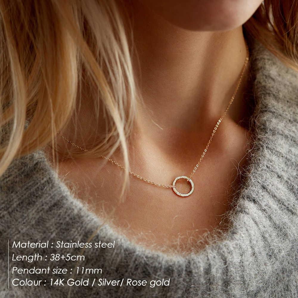 E-Manco declaración collar de las mujeres, collar de acero inoxidable COLLAR COLGANTE collar de joyería de moda