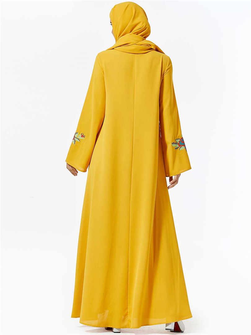Grande taille grande Maxi femme hiver Abaya Caftan dubaï grande taille Hijab Robe musulmane Abayas pour les femmes Robe Caftan chaud épais