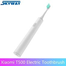 Xiaomi mijia sonora escova de dentes elétrica t500 usb carregamento sem fio adulto escova de dentes elétrica ultra sônica mi app controle inteligente