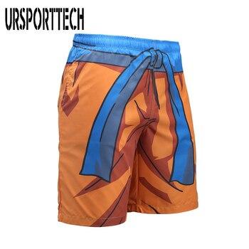 URSPORTTECH Beach Shorts Men Bottoms Quick Dry Print Swimming Surfing Shorts Summer Draw String Elastic Waist Short Men Swimwear 1