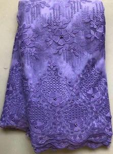 Image 4 - Afrika boncuklu dantel kumaş işlemeli nijeryalı danteller kumaş 2020 yüksek kaliteli şeftali fransız tül dantel kumaş kadınlar için HLL4807