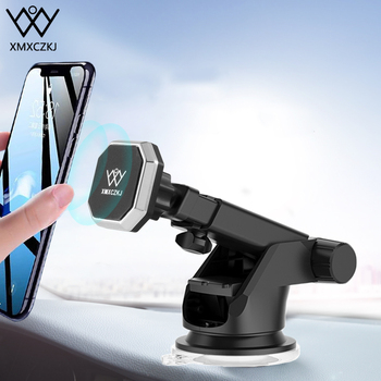 Magnetic Car Phone Holder For iPhone 11 Xs Max XR 8 6 Telescopic Suction Cup Car Windshield Dashboard Mount GPS Display Support