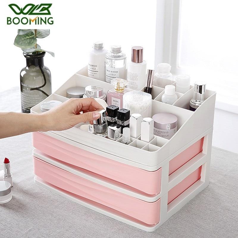 WBBOOMING Desktop Sundries Storage Box Makeup Organizer Cosmetic Make Up Brush Storage Case Home Office Bathroom Storage Boxes