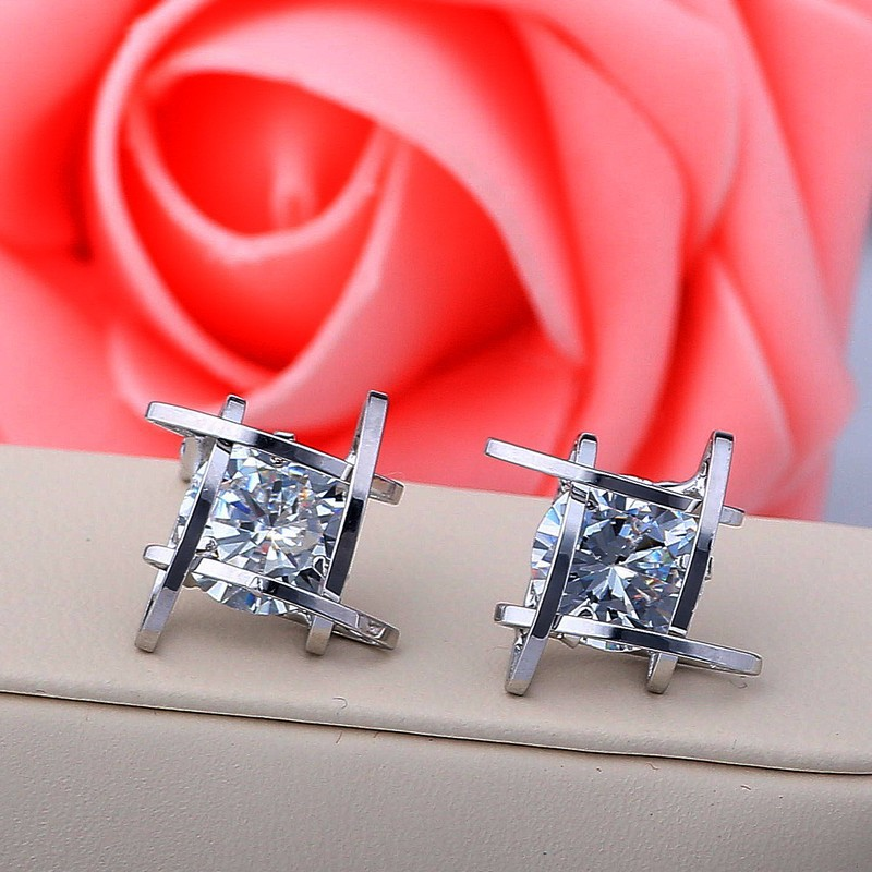 Hb7c9f4c55ee24f168f7dc1f11a5e8504E - Women's earrings Europe and the new jewelry geometric hollow square triangle zircon earrings fashion banquet jewelry