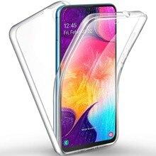 360 dupla Completa Caso de Telefone À Prova de Choque Para Samsung J3 J4 J5 J6 J7 J8 Plus 2018 A5 A6 A7 A8 A9 Mais 2018 Casos Claros Capa Coque