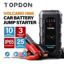 TOPDON V1500 12V urządzenie do awaryjnego uruchamiania na zewnątrz oświetlenie awaryjne Power Bank baterii 18000mAh wzmacniacz akumulatora samochodowego ładowarka