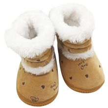 0-18M Baby Winter Warm Fleece Boots Non Slip Casual Soft Sole Snow Boots Shoes Cute Style Infant Printing Footwear