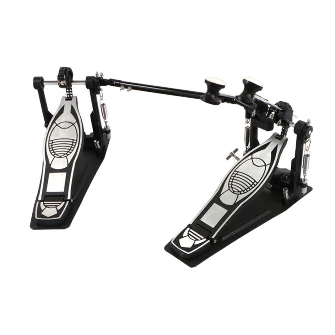 Electroplate Double Drum Kit Pedal Foot Beater Pedal Musical Instrument Accessories