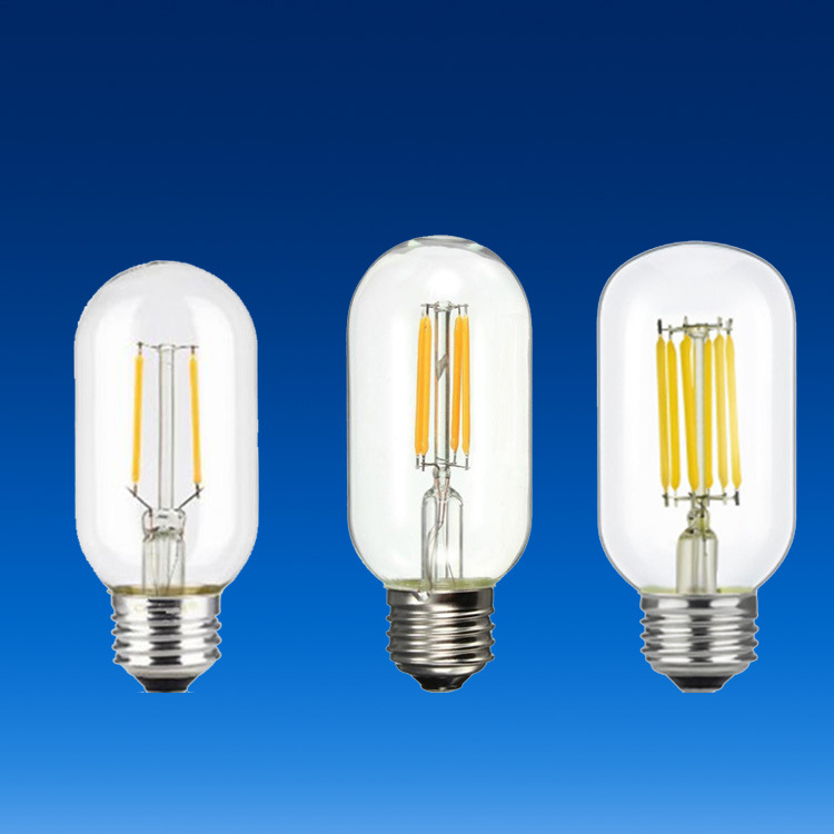 Energy Saving LED Bulb Lamp Retro Edison T45 Filament Lamp 2W 4W 6W 8W E27 Head Tungsten Like Bulb