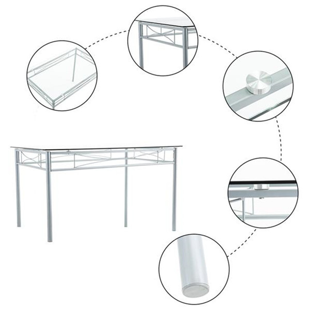 Glass Dining Table and Chairs  2