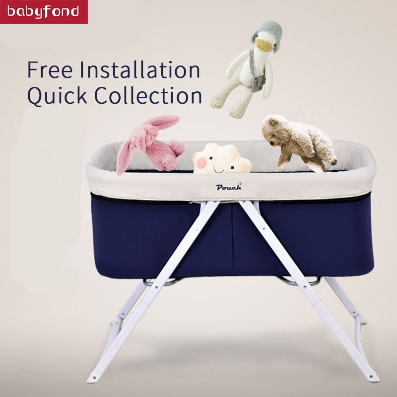 Pouch Baby Bed Fashion Multifunctional Concentretor Baby Bed Folding Portable Travel Cradle Bed Travel