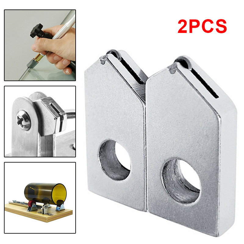 2pcs 6mm Glass Wine Beer Bottle Cutter Head Replacement Cutting Head Art Crafts For Cutting 2-10mm Thick Glass DIY Crafts