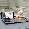 Нескользящий коврик для телефона  автомобильный держатель для телефона  с временным стоп-сигналом  силикагель  многофункциональный мобиль...