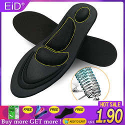 EiD 5D Stretch Memory Foam Deodorant Running Cushion Insoles For Feet Man Women Insoles For Shoes Sole Orthopedic Pad Unisex