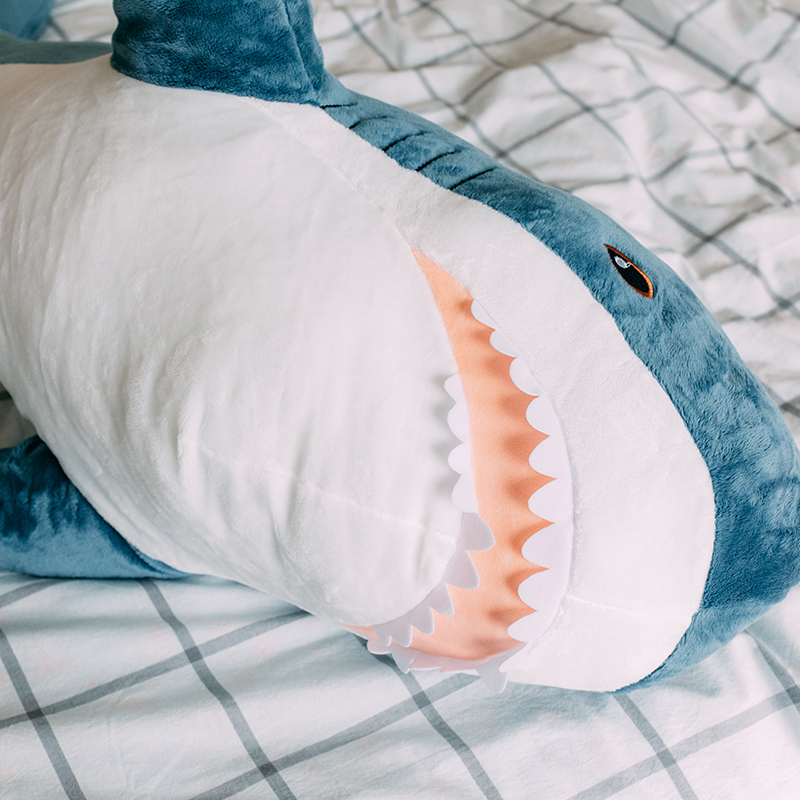70/100/140cm Giant Soft Plush Shark Toys Stuffed Animals Shark Baby Product Pillow Stuffed Kids Toys Appease Girl Birthday Gifts