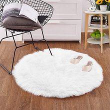 Tapete artificial para cadeira, capa de cadeira em pele de carneiro artificial para quarto, lã artificial 30 peça/50/60/90cm