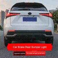 QHCP Car Brake Rear Bumper Lights ABS Anti Collision Warning Reflector Brake Lamp Replace Accessories For Lexus NX200 300H 17 18