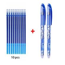 0.5mmerasable caneta neutra azul preto tinta gel caneta borracha haste de recarga apagável caneta lavável lidar com artigos de papelaria caneta neutra