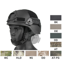 Emerson Tactical ACH ARC MICH 2000 Helmet EmersonGear TC 2000 Shooting Hunting Advanced Head Protective w/ NVG Shroud &Side Rail